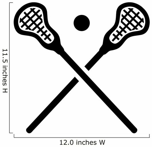 Lacrosse Equipment Wall Decal