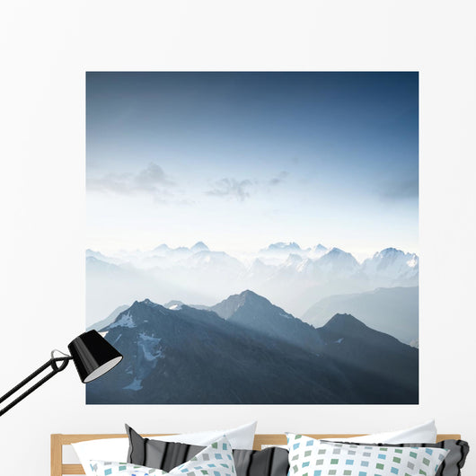 High Mountain Morning Time Wall Decal