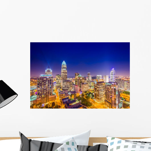 Charlotte Uptown Skyline Wall Decal