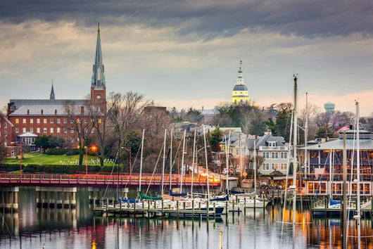 Annapolis Maryland Usa Skyline Wall Decal