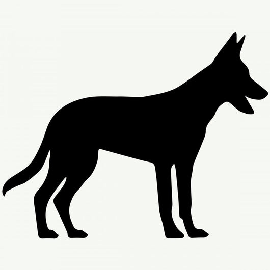 Dog Silhouette White Wall Decal