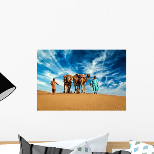 Two Cameleers Camel Drivers Wall Decal
