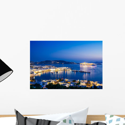 Mykonos Town Night from Wall Decal