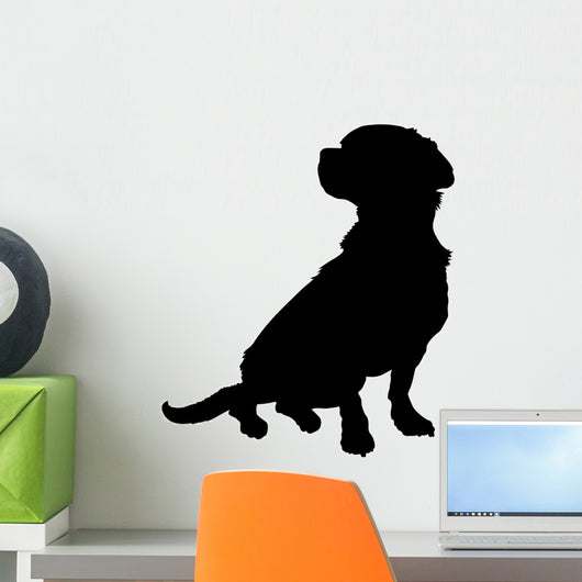 Mixed Breed Silhouette Wall Decal