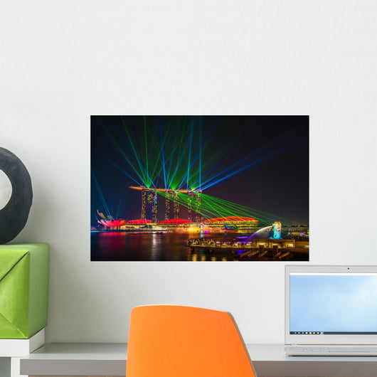 Laser Show Marina Bay Sands Wall Decal