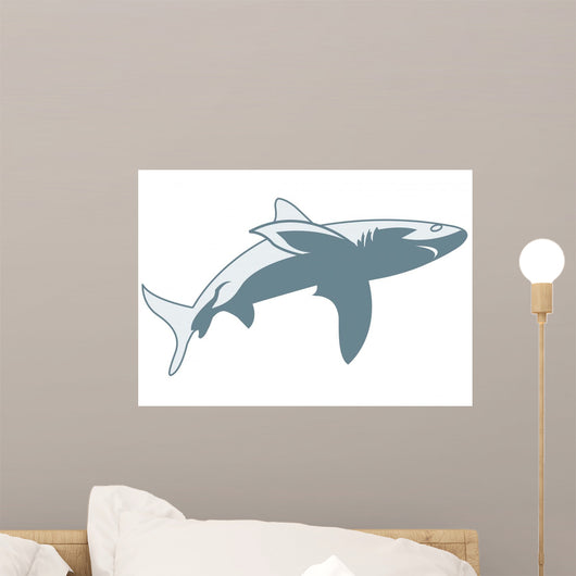 Shark Illustration Wall Decal