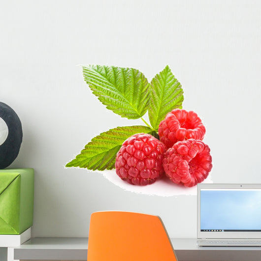 Bunch Red Raspberry White Wall Decal