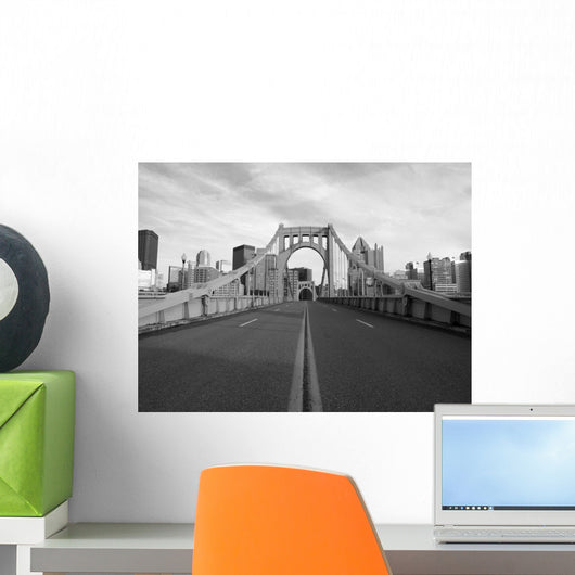 Empty Pittsburgh Bridge Black Wall Decal