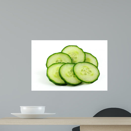 Cucumber Slices Wall Decal