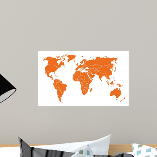 Weltkarte Wall Decal