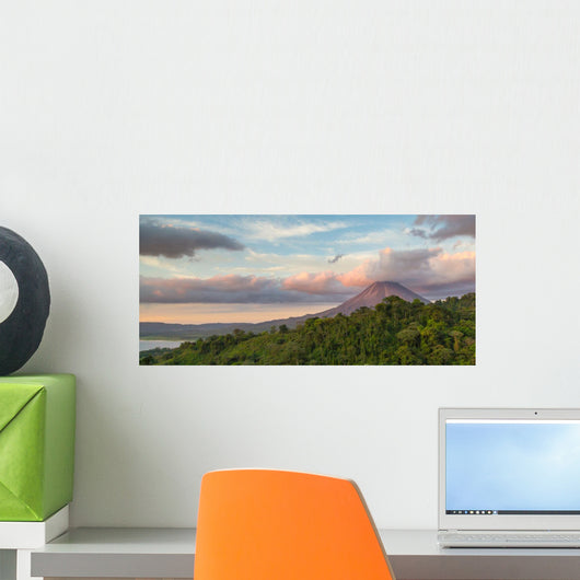 Sunrise Costa Rica Volcano Wall Decal Panoramic Wall Decal