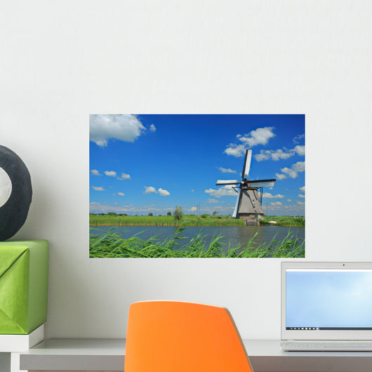 Windmill Kinderdijk Holland Wall Decal