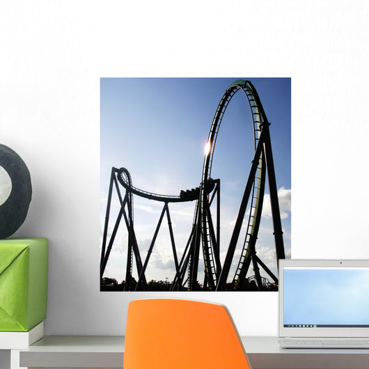 Steel Built Sit-down Rollercoaster Wall Decal