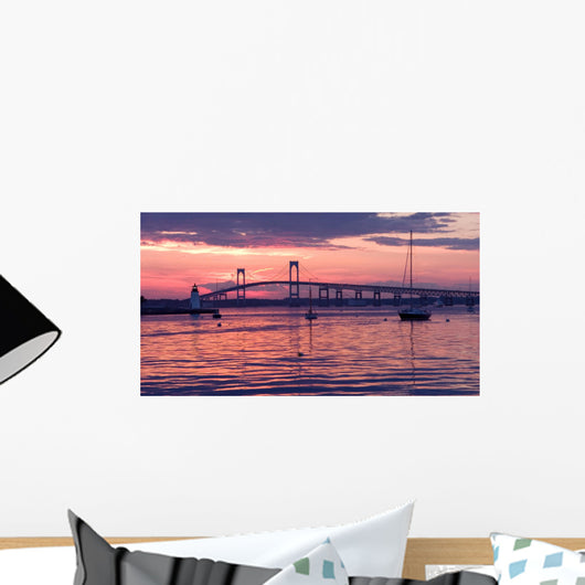 Light House and Bridge Wall Decal