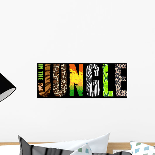 Jungle T-short Print Black Wall Decal