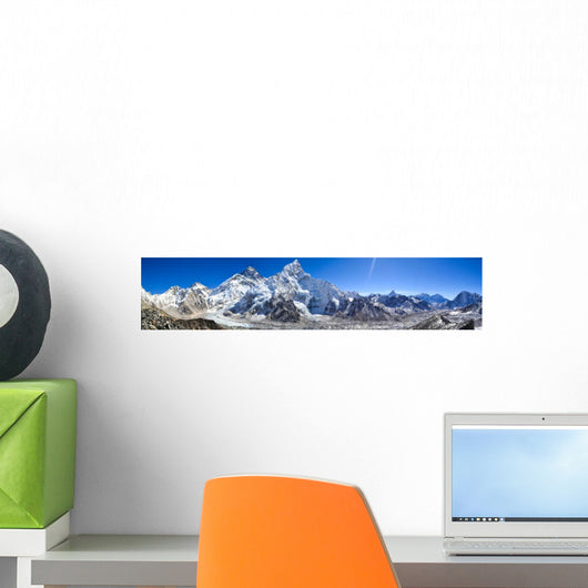 Mount Everest Panorama Wall Decal Panoramic Wall Decal