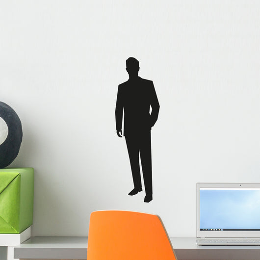 Young Business Man Silhouette Wall Decal