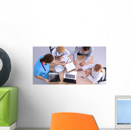 Doctors Working Reports Medical Wall Mural