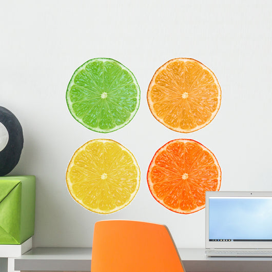 Lemon Lime Orange Fruit Wall Stickers Wall Decal