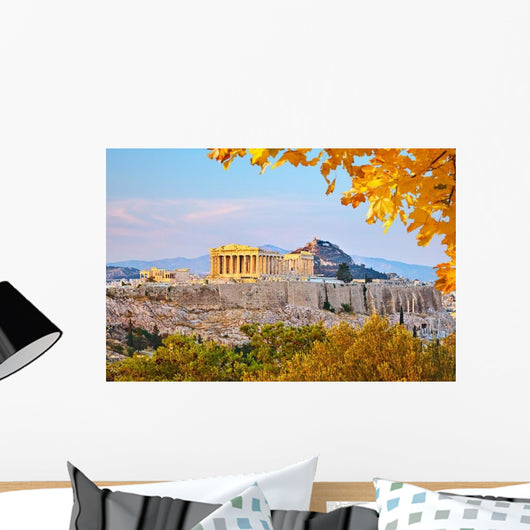 Acropolis Athens Evening Wall Decal