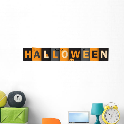 Halloween Vector Letters and Symbols Wall Decal