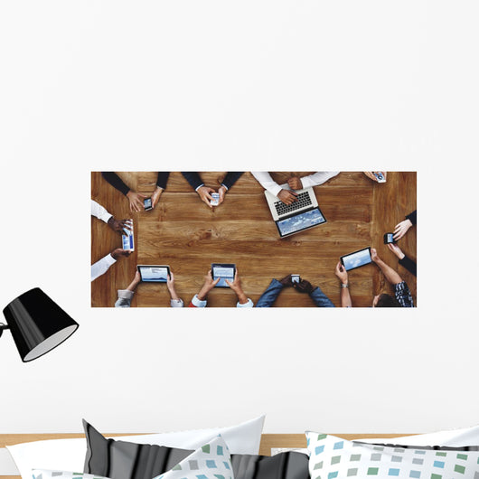 People Working Technology Concept Wall Decal Panoramic