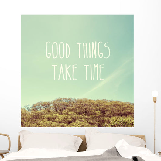 Inspiration Quote Good Things Wall Decal