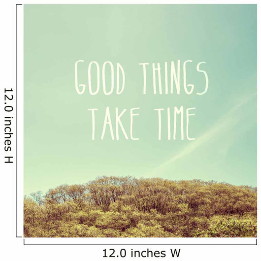 Inspiration Quote Good Things Wall Mural