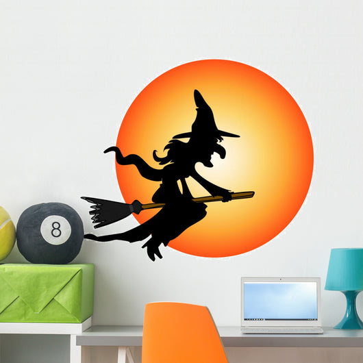 Halloween Costume Witch Wall Decal
