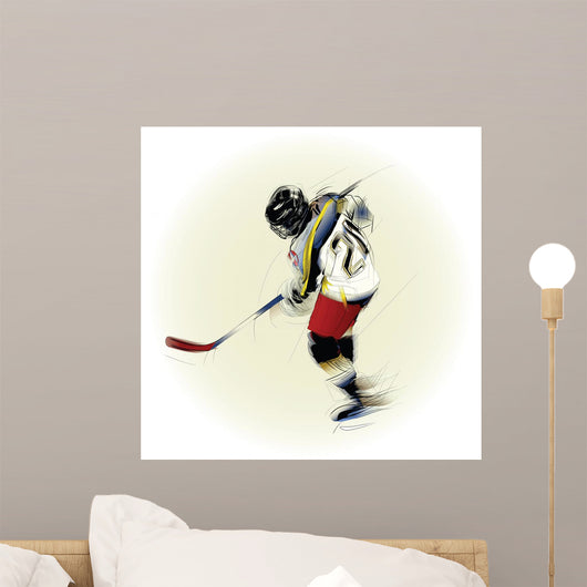 Ink Drawing Illustration Ice Wall Decal
