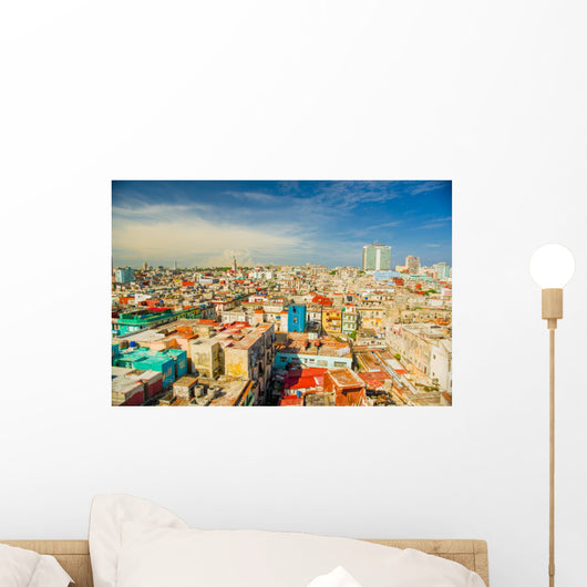 Panorama Havana City Vedado Wall Decal