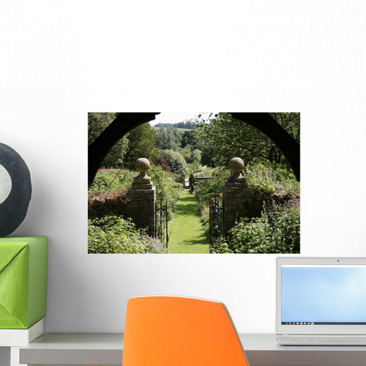 English Garden from Gazebo Wall Decal