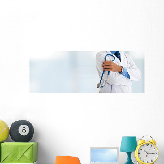 Doctor Front Bright Wall Decal Panoramic