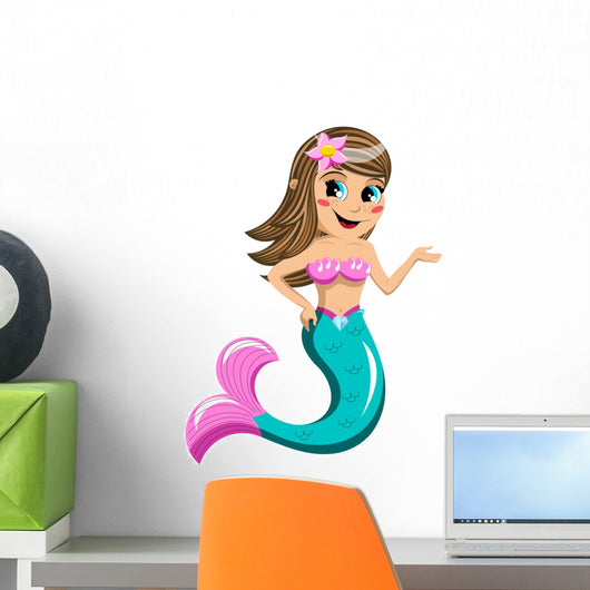Little Mermaid Presenting Wall Decal