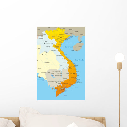 Vector Map Vietnam Country Wall Decal