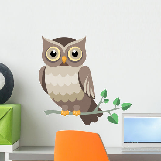 Decorative Vector Owl Wall Decal