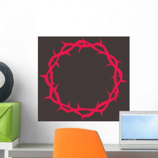 Crown Thorns Red Wall Decal