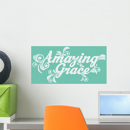 Amazing Grace Lettering Wall Decal