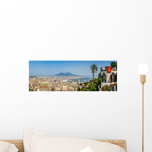 City Naples with Mt Vesuvius Wall Decal