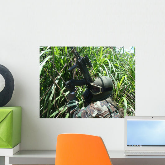 Airsoft Tactical Simulation Attack Wall Decal