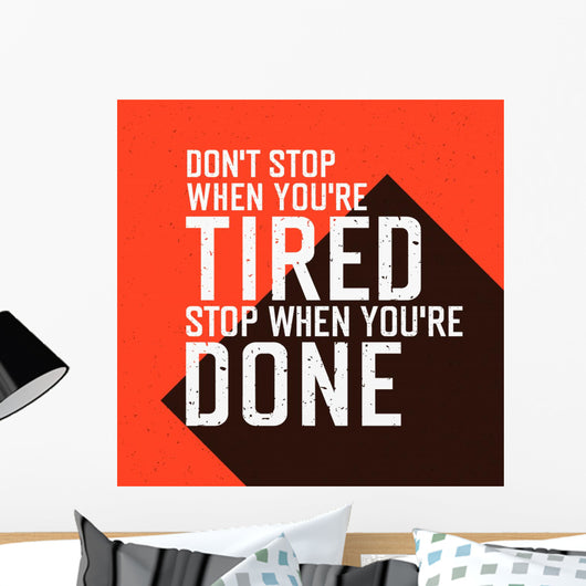 Motivational Poster with Lettering Wall Decal