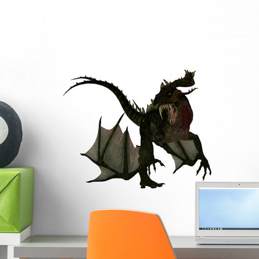 Fantasy Dragon Attacking Wall Decal