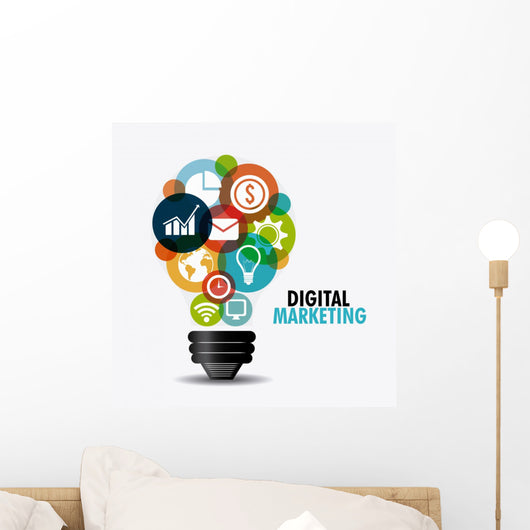 Digital Marketing Design Wall Decal