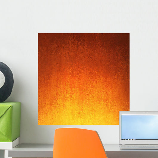 Gold Orange and Red Wall Decal