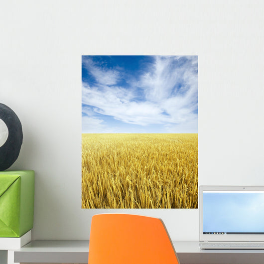 Golden Rice Field Wall Decal