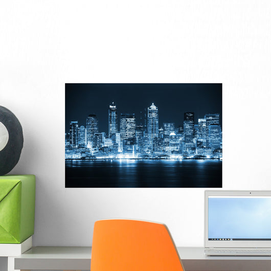 Night Seattle Wall Decal
