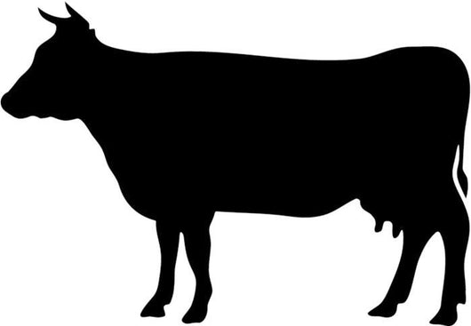 Black Cow Silhouette Wall Decal - WallMonkeys.com
