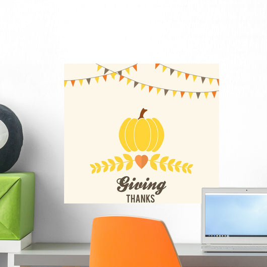 Thanksgiving Design with Buntings Wall Decal