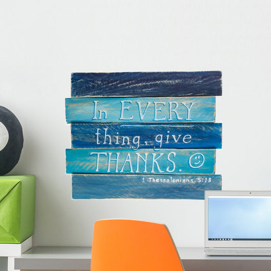1 Thessalonians 5 18 Wall Decal