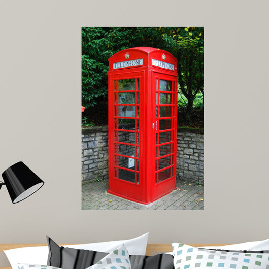Old British Red Telephone Wall Decal